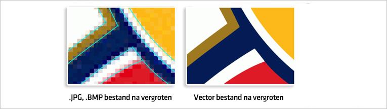 JPG / BMP logo vs. vector logo afbeelding