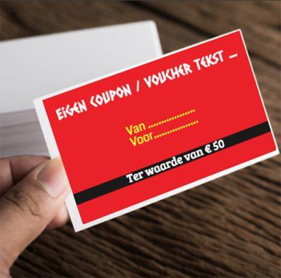 Voucher coupon zelf ontwerpen